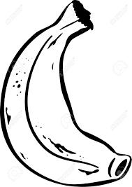 Simple Dessin En Noir Et Blanc D Une Banane Banque D Images Et