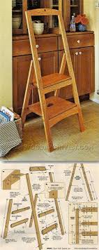 Wooden kitchen step stool Unfinished Wood Step Wood Stool Custom Finish Height Wood Small Folding 17 Best Images About Woodworking Diy On Amazoncom Wooden Folding Kitchen Step Stool Kitchen Appliances Tips And Review