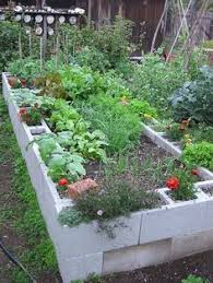 Small Picture How to Make A Raised Bed Garden Using Concrete Blocks Gardening