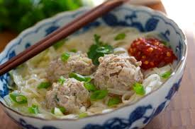 Asian soup with meatballs