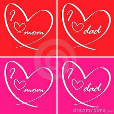 i love you mom and dad plus i love you card mom dad love mom n dad images tte