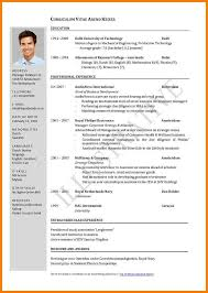 Curriculum Vitae Form Pdf Ideas Of Cv Resume Example Pdf Curriculum