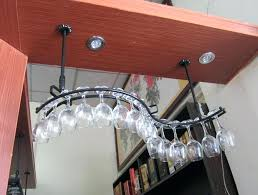 hanging wine glass rack overhead