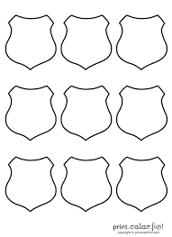 Small Picture 9 blank shields coloring page Print Color Fun