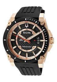bulova watches men s champlain precisionist black carbon fiber bulova watches men s champlain precisionist black carbon fiber dial black rubber 98b152 bulova watches luxury wrist watches