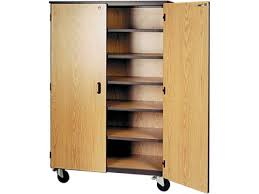 wood storage cabinets. Unique Storage Mobile Storage Cabinet  5 Shelves Locking Doors 72 Intended Wood Cabinets A