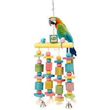 1pcs pet birds parrot toys atoo parakeet bird swing budgie cotton climbing rope standing rod for pet playing toy msia senarai harga 2019