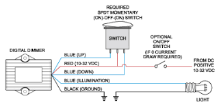 digital dimmer 2 ampere blue sea systems wiring diagram for digital dimmer