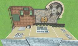 patio designs with fire pit and hot tub. 3D Deck And Patio Design Designs With Fire Pit Hot Tub