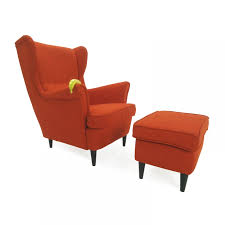 50 off u2016 ikea ikea wing chair and footstool chairs throughout orange accent chairs