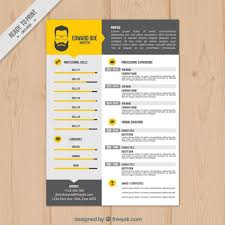 Yellow Resume Template Vector Free Download
