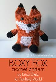Crochet Fox Pattern Best 48 Little Monsters Crocheted Boxy Fox