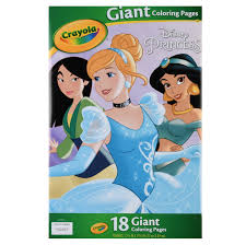 Free printable cinderella coloring pages for kids. Crayola Disney Princess Coloring Pages Giant Coloring Pages 18 Count Walmart Com Walmart Com