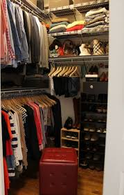 efficient apartment closet ideas and solutions apartments piinme for small with wooden flooring wall shelves made metal materials also completed rec tufted