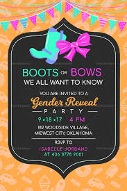 Gender Reveal Invitation Templates Boots Or Bows Gender Reveal Invitation Template