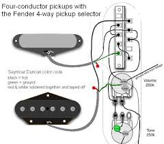 4 way switch duncan vintage stack telecaster guitar forum the neck pup s green negative aka ground lead should go to the 4 way as indicated and the bare wires in the