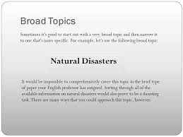 module defining the topic ppt broad topics natural disasters