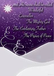 Purple Christmas Card Isaiah Chapter 9 Verse 6 Christmas Card Greeting Card