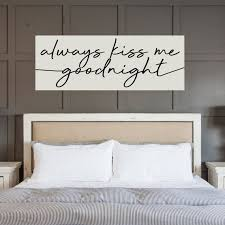 always kiss me goodnight hand painted