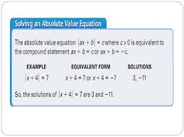 5 example 1 solve an absolute value equation solve 5 2x 9