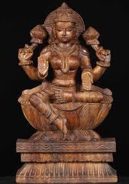 sold wooden dess lakshmi statue 18