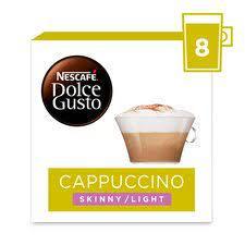 Delonghi nescafé dolce gusto jovia pod capsule coffee machine, espresso, cappuccino, latte and more,edg250.b, black. Nescafe Dolce Gusto Cappuccino Light Coffee Pods 160g Tesco Groceries