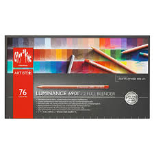 Caran Dache Luminance 6901 Colour Pencil Set Of 76 Includes 2 Full Blenders