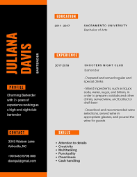 Bartender Resume Example And Tips