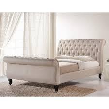 tufted upholstered sleigh bed. Plain Upholstered Fawn Upholstered Sleigh Bed With Tufted Idea And