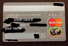 the back of the new aadvane credit card