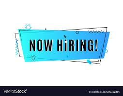 Now hiring concept emergency job vacancy Vector Image