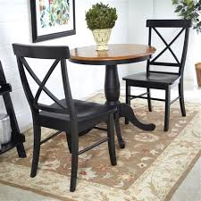 international concepts round dining table international concepts black cherry 3 piece dining