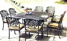 cast aluminum patio dining table patio table seats 8 piece cast aluminum patio dining set seats