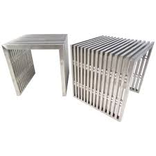 slat coffee table pair of style slat chrome side tables for slat coffee table diy