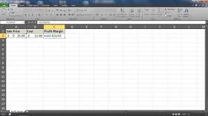 Gross Profit Formula Excel Profit Margin Percentage Formula