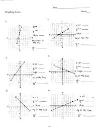 graph using slope intercept form worksheet write equation in slope intercept form worksheet writing slope intercept