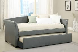 faux leather daybed cm1956gy