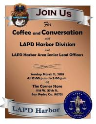 Coffee With A Cop Flyer Coffee With A Cop March 11 The San Pedro Coast