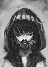 Anime Girl And Gas Mask Image S H O O T In 2019 Anime Anime