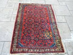 1 of oriental rug by vintage red patterned well loved missing fringe rugs uk 1808839253html