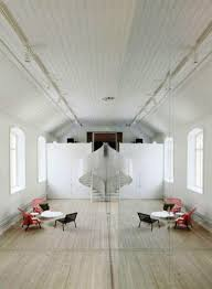 minimalist office design. Narrow Interior Office Decorated With Large Mirror Wall Pics, Minimalist Design A