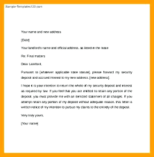Rental Letter Template Notice Vacate Letter Template Landlord Sample Day For Quit