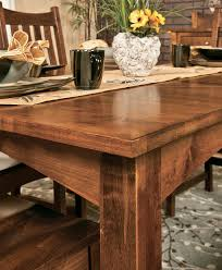 amish dining room table