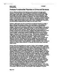 crime and deviance in trinidad and tobago a level sociology  evaluate functionalist theories of crime and deviance