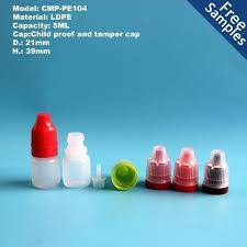 5ml ldpe plastic eye dropper bottle e bottles with tamper evident seal and child resistant