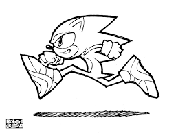 Small Picture Sonic The Hedgehog Coloring Pages For Print Color Pictures Bebo