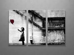 Druck auf leinwand, druck auf plexiglas, handgemaltes wandbild und premium print. Bonus Decal Banksy I Am Your Father Stretched Canvas Triptych Print 48 X30 Art Prints Art