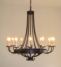 santa barbara chandelier twelve light santa barbara style iron