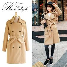 basic wool mixed long length gown coat women s coat jacket outerwear jacket her gown coat trench coat long coat simple office commute big silhouette over