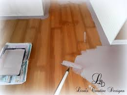 painting laminate floors apply primer